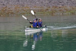 Sea kayaking tour in Gustavus Alaska
