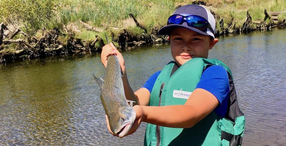 Trout caught on fishing tour in Gustavus, Alaska