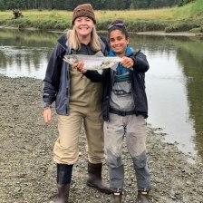 river fly fishing tour in gustavus alaska near Glacier Bay