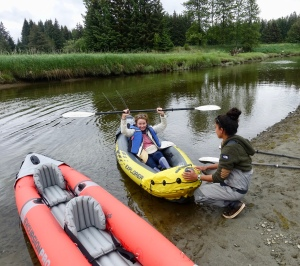 river kayaking tour in gustavus alaska near Glacier Bay
